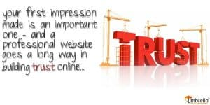 Website builds Trust with a First Impression